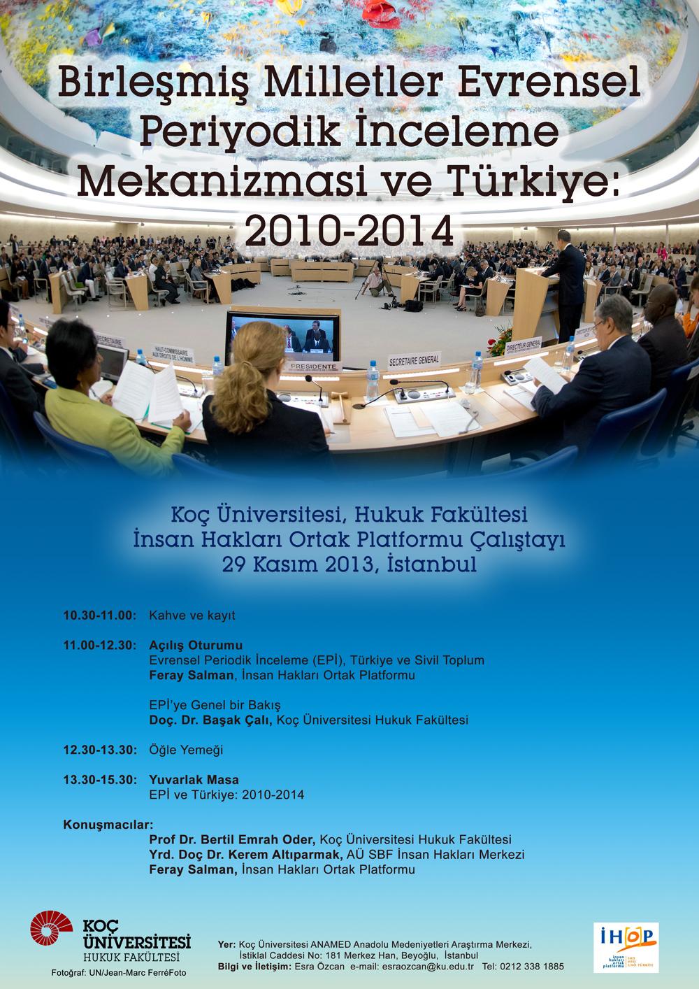 BM Evrensel Periodik İnceleme Mekanizması ve Türkiye Çalıştayı