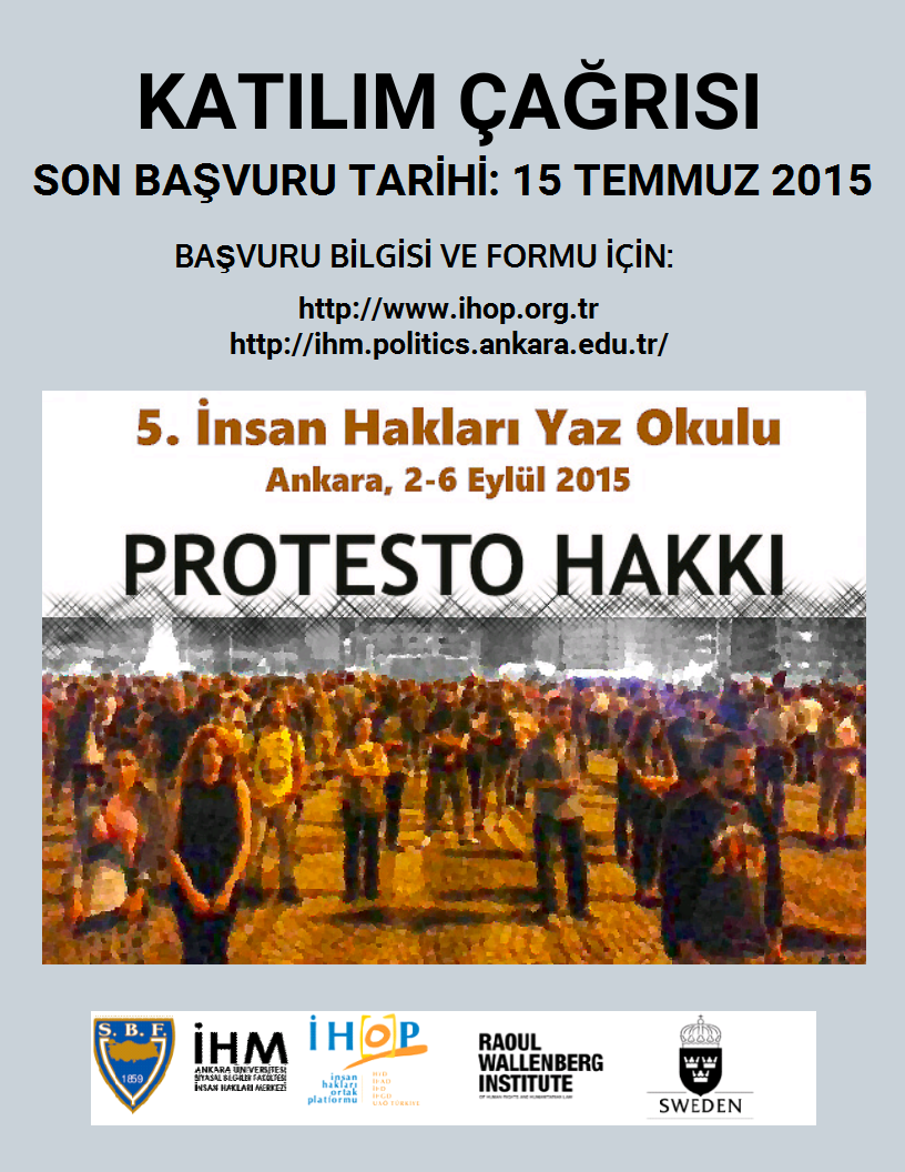 5. İNSAN HAKLARI YAZ OKULU:PROTESTO HAKKI