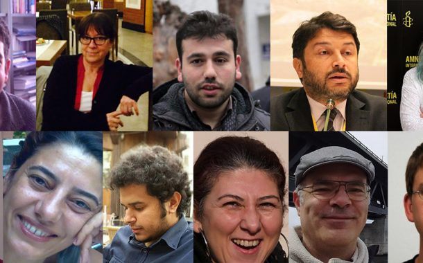 Haklarımızı savunma hakkı temel bir haktır. Hak savunucularının serbest bırakılmasını ve haklarındaki soruşturma ve davaların ortadan kaldırılmasını talep ediyoruz!